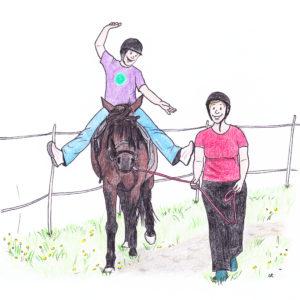 Eine gute Balance für Reiter durch spielerische Übungen und mehr Koordination